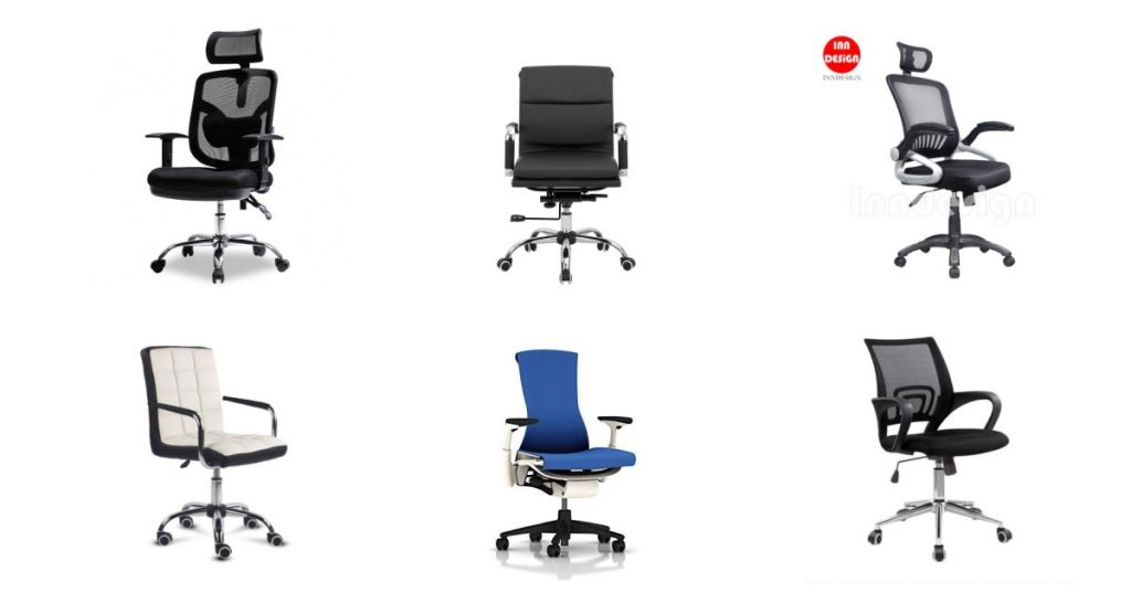 collage of 6 of the best office chairs in Singapore