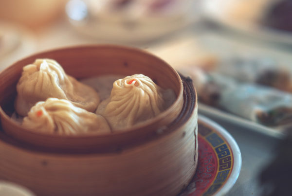 Dim sum is a Chinese-style cuisine served in small steamer baskets