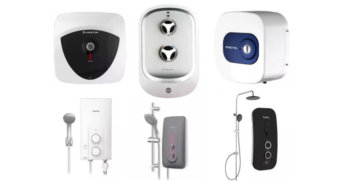 different products of water heaters