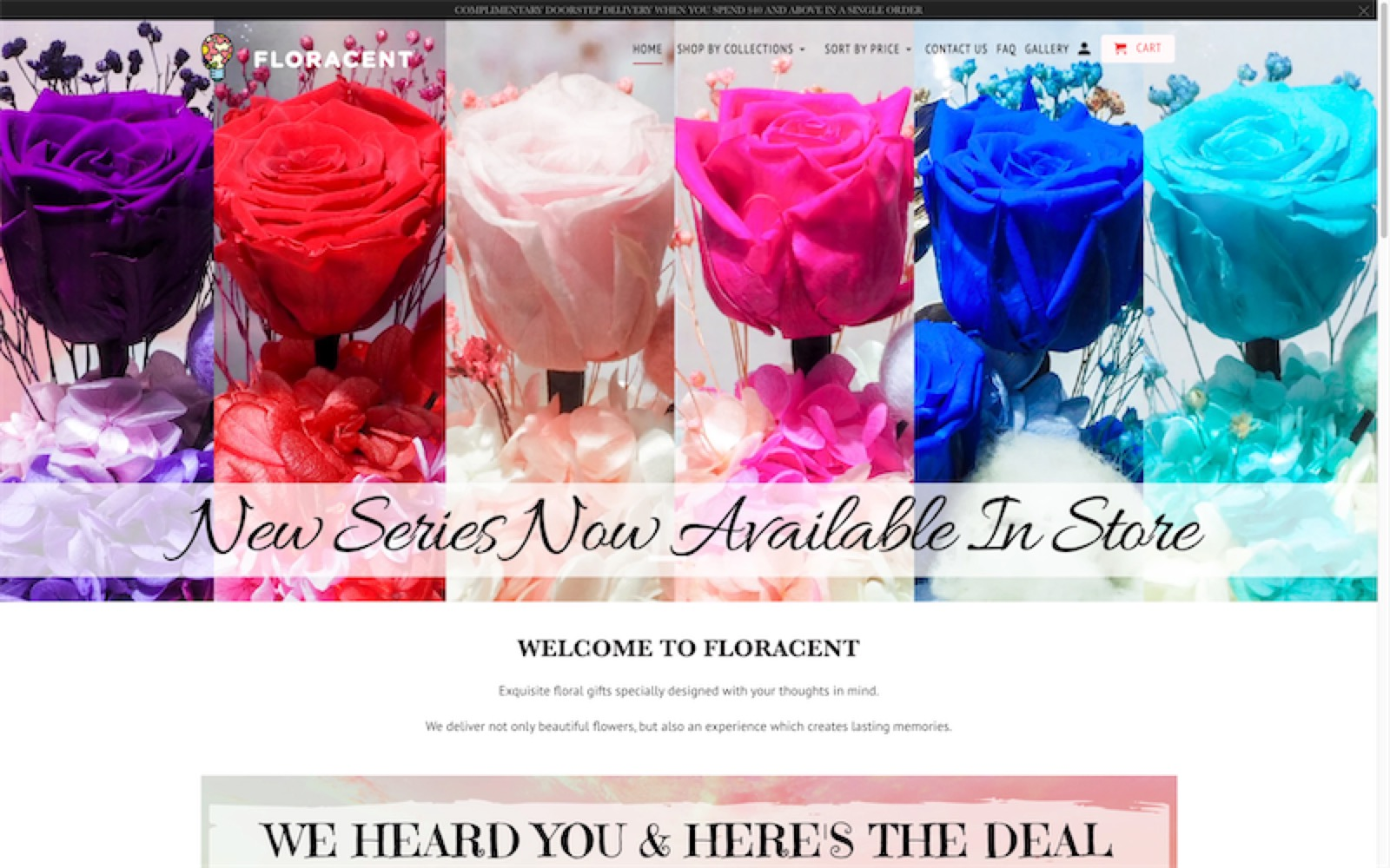 floracent - website homepage