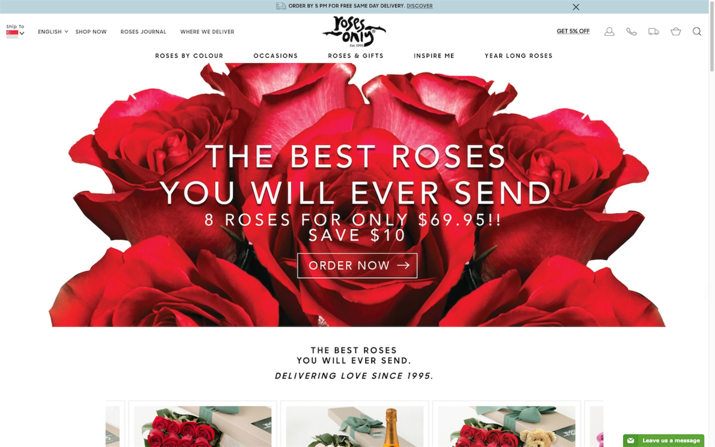 Roses only - website home