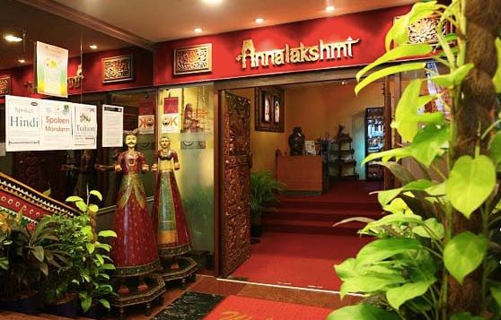 Entrance of Annalakshmi branch at Havelock Road, a vegetarian Indian buffet restaurant in Singapore