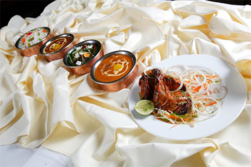 Some of the food selections at Sitara Restaurant