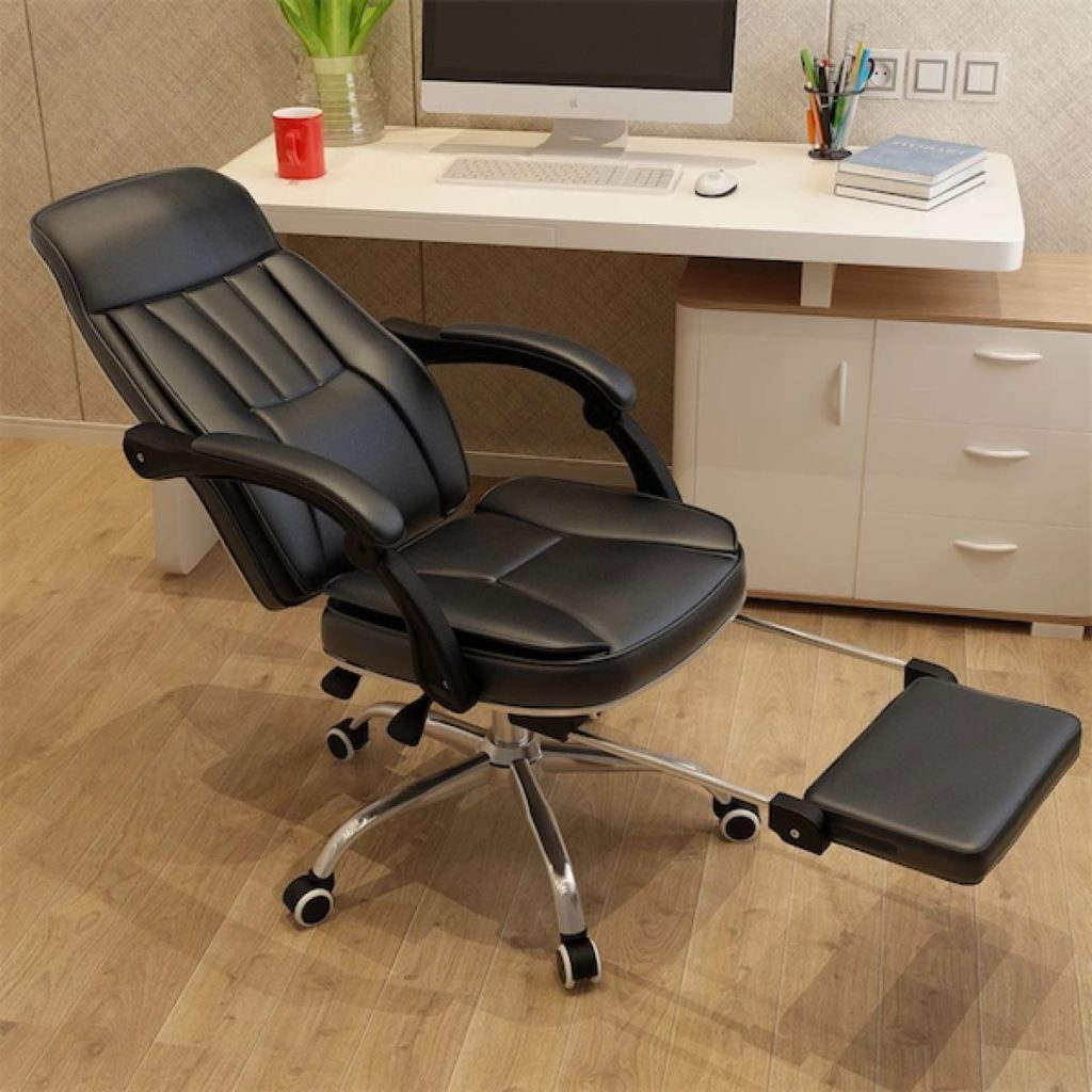 office-chairs-UMD PU leather chair boss chair with footrest P22