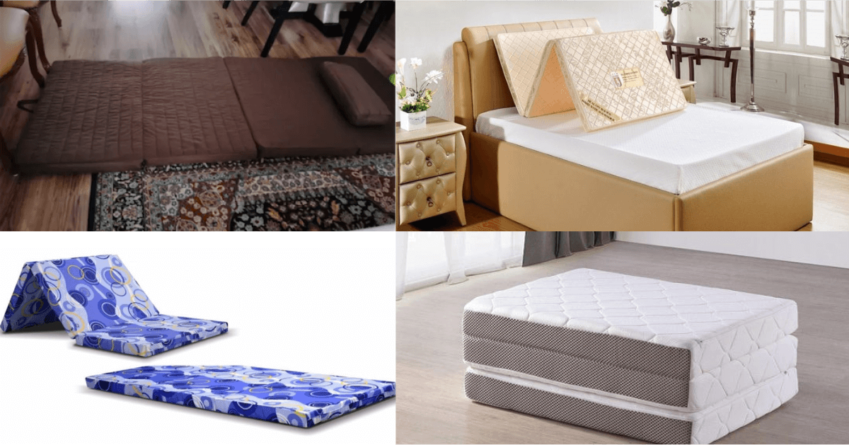 Different types of foldable mattress to choose from
