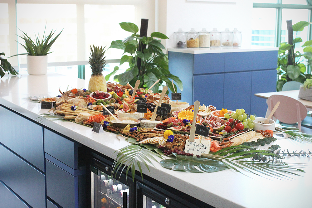 platter of food on a table