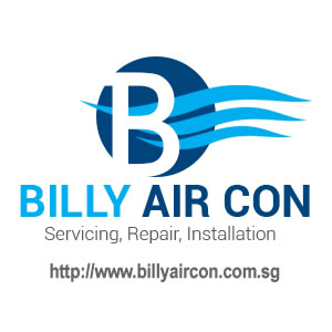 logo for Billy aircon, an aircon servicing company in Singapore