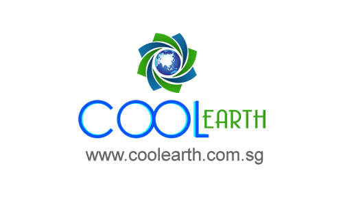 logo for Cool Earth, an aircon servicing company in Singapore