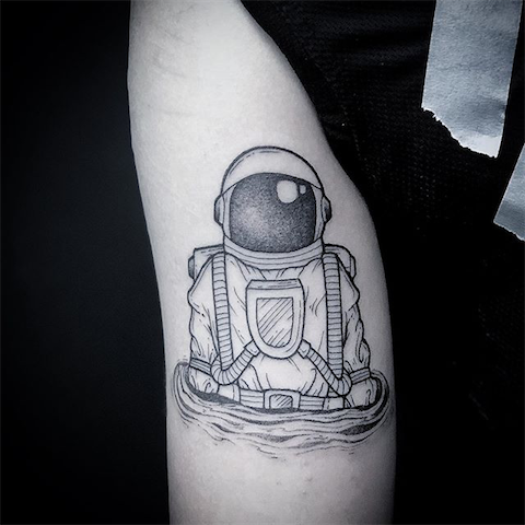 tattoo of spaceman