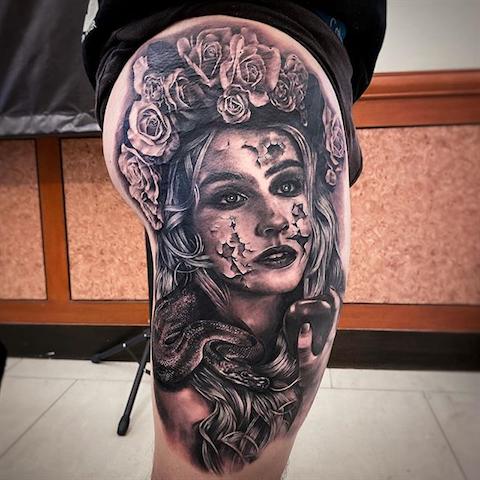 tattoo of woman
