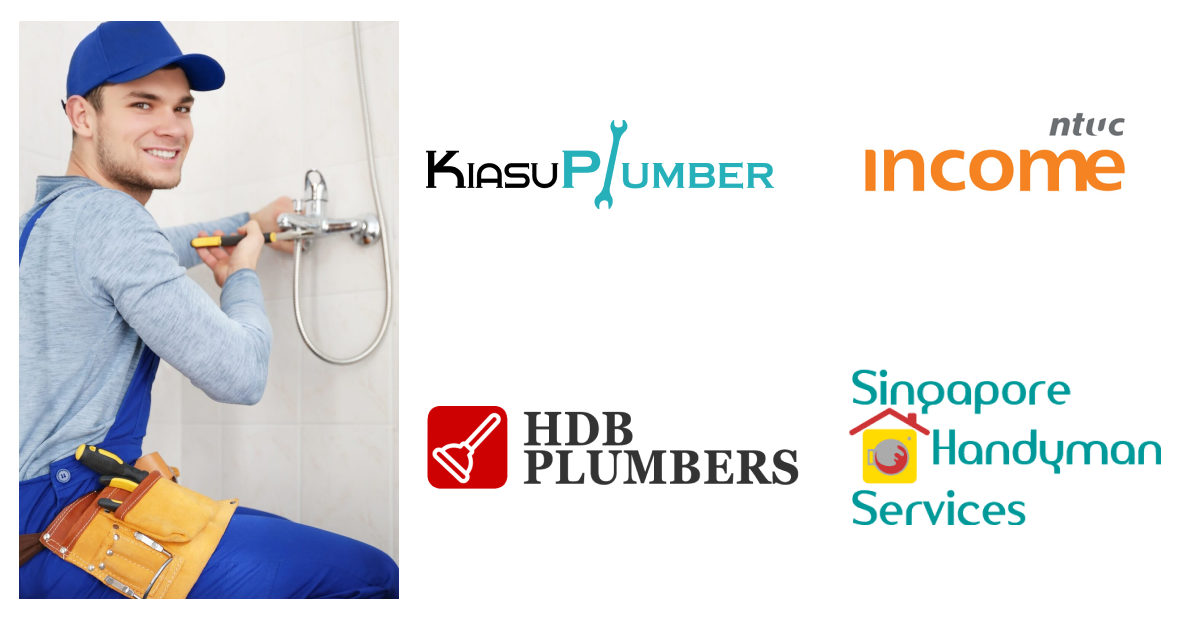 best plumber in Singapore with plumber company logos