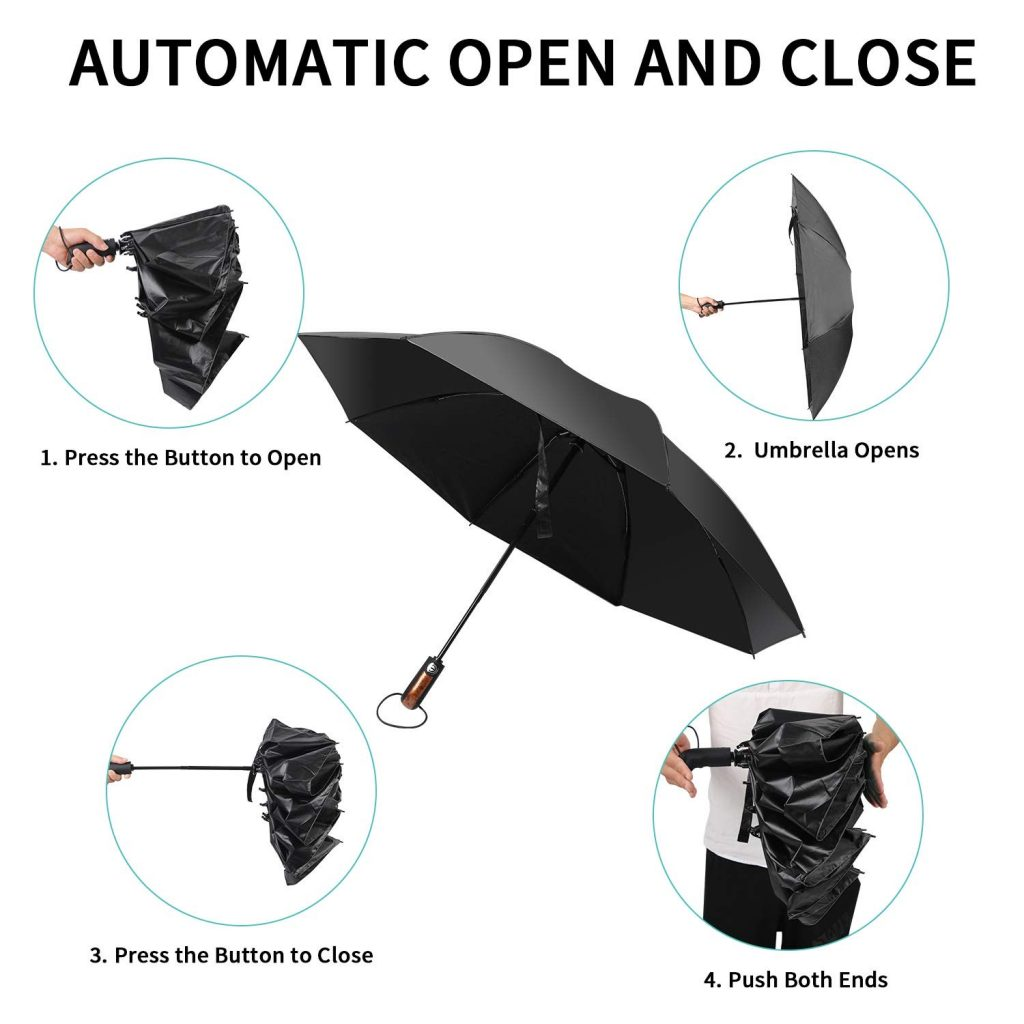 A step-by-step guide to opening and closing the Hailstorm umbrella