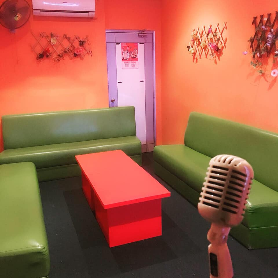 K-garden family ktv room with colorful interior