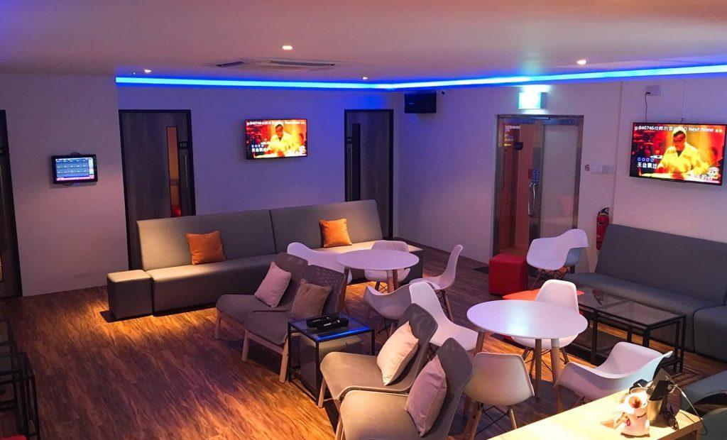 Playlist ktv karaoke hall with classy and cozy interior