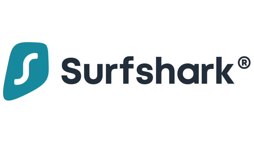 Logo for SurfShark, a VPN that can be used in Singapore