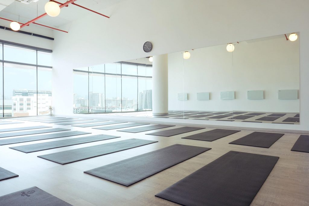 Interior of All About Yoga Studio in Singapore