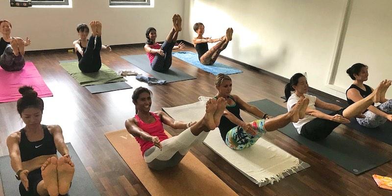Yoga class in Art of Yoga Singapore