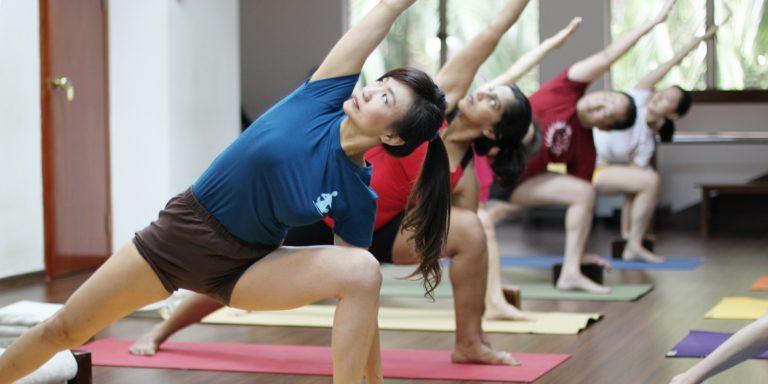 Yoga class in Iyengar Yoga Centre in Singapore