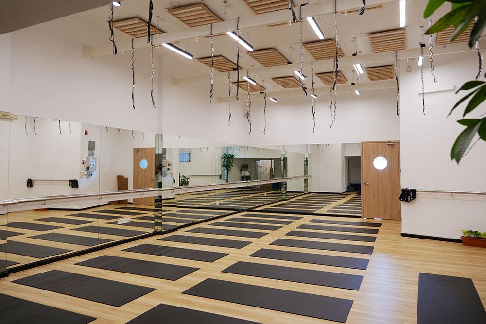 Interior of a Yoga studio in Jal Yoga Singapore