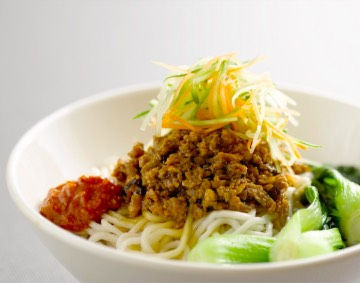 dry noodle with mock meat
