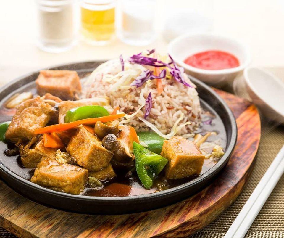 rice with tofu