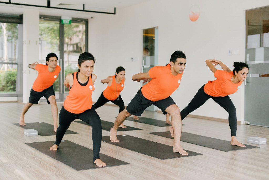 Yoga class in Platinum yoga Singapore
