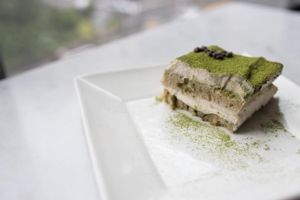 vegetarian matcha tiramisu