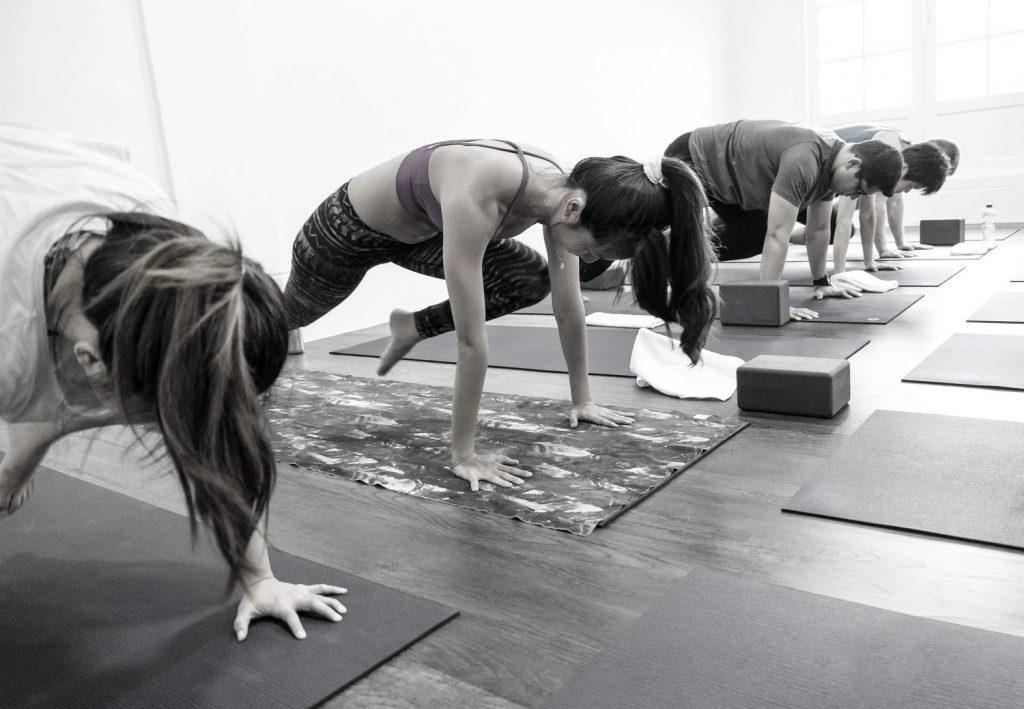 Yoga class in Shiva Yoga studio in Singapore