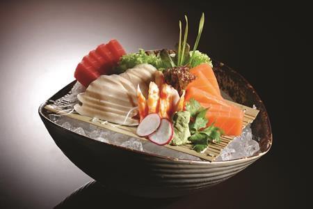 vegetarian sushi on a bowl