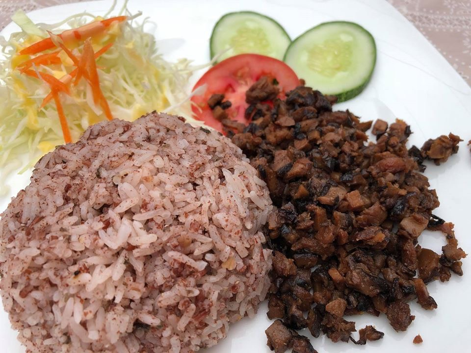 mushroom and brown rice