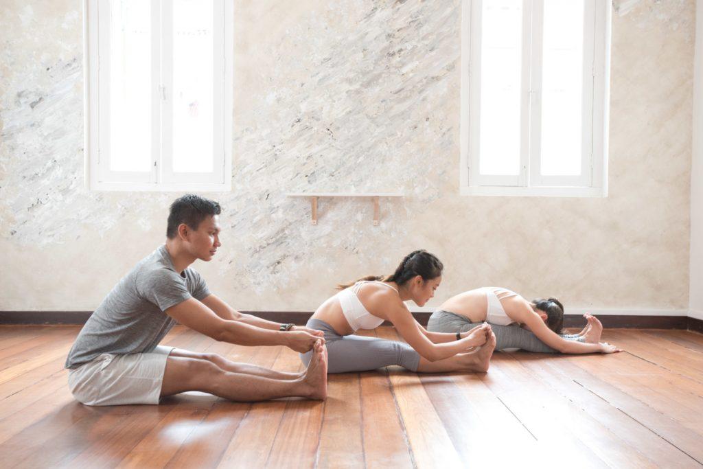 Yoga students in Yoga+ Singapore studio