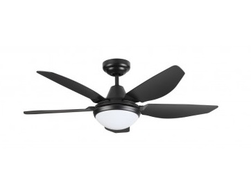 Fanco Eco-Lite 52 Inch Ceiling Fan with Lights, black colour