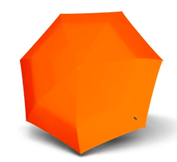 An open Knirps Floyd umbrella resting on the ground