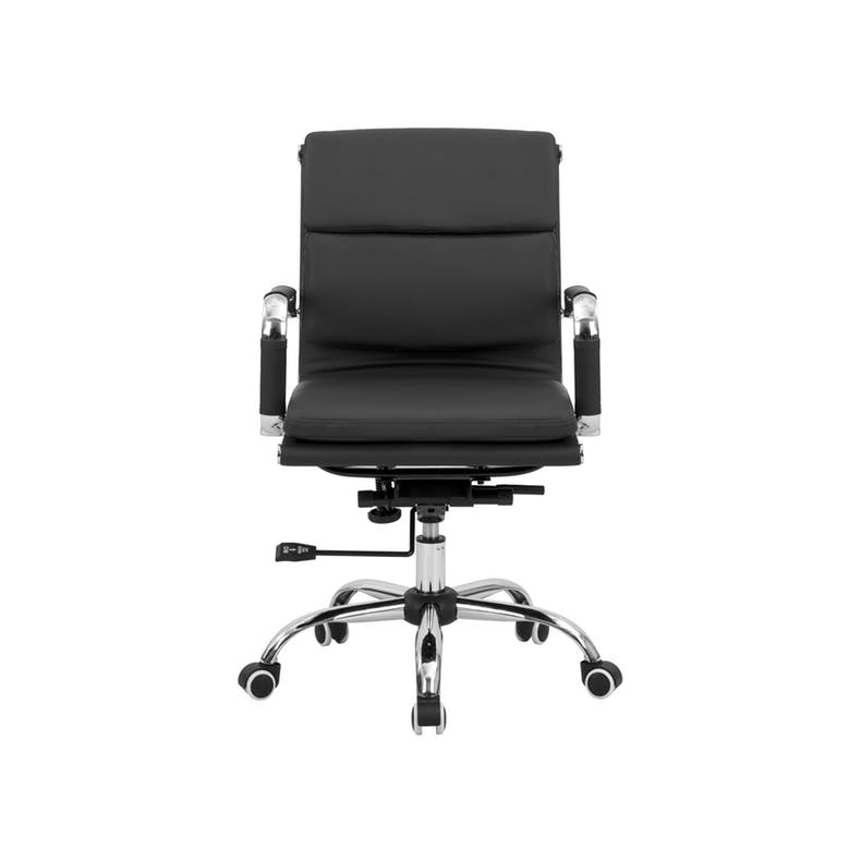 Eames Soft Pad Mid Back Office Chair in black