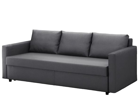 Three seat sofa bed, Skiftebo dark grey