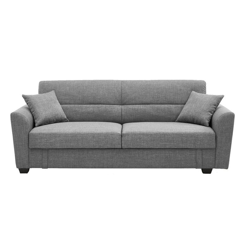 Boston 3 Seater Storage Sofa Bed - Siberian Grey