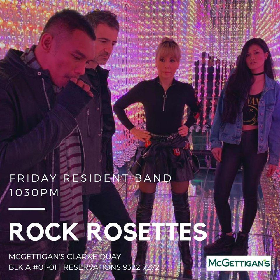 rock rosettes band in mcgettigans singapore