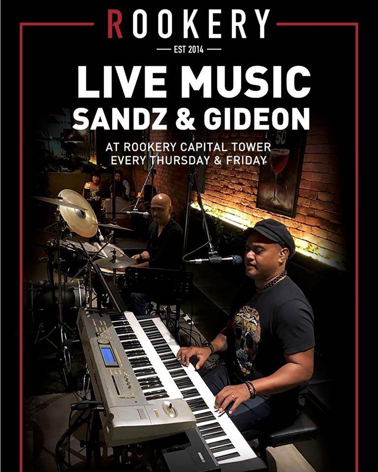 sandz and gideon performing live at rookery bar sin singapore
