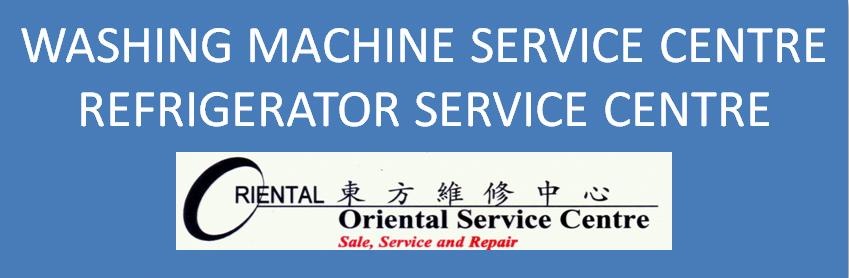 washing machine repair header and oriental service centre logo singapore