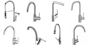 Different types of kitchen taps