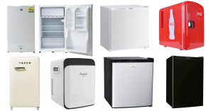 A variety of portable and compact mini fridges