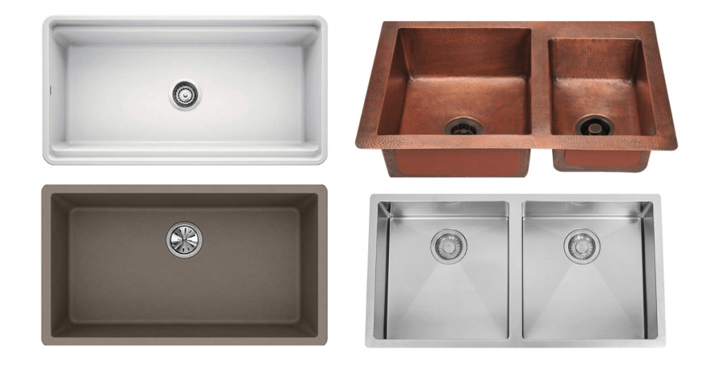 Different types of kitchen sinks