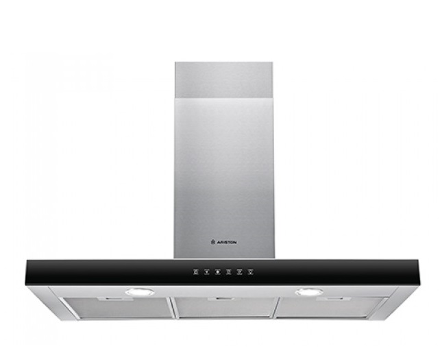 Ariston AHBS 9.7FLTIX 90cm Silver Chimney Hood