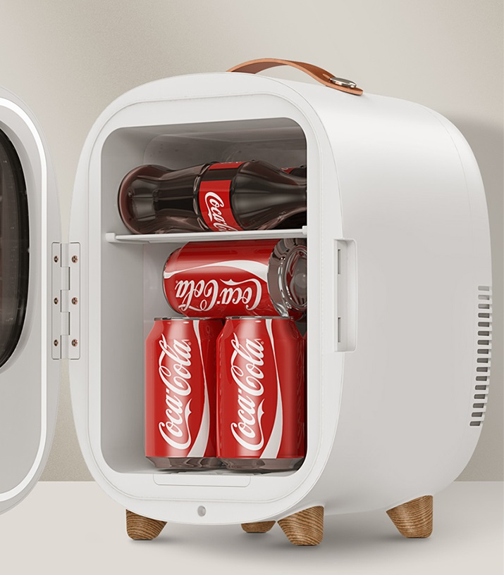 Baseus Mini Fridge Refrigerator 8L  with coke inside it