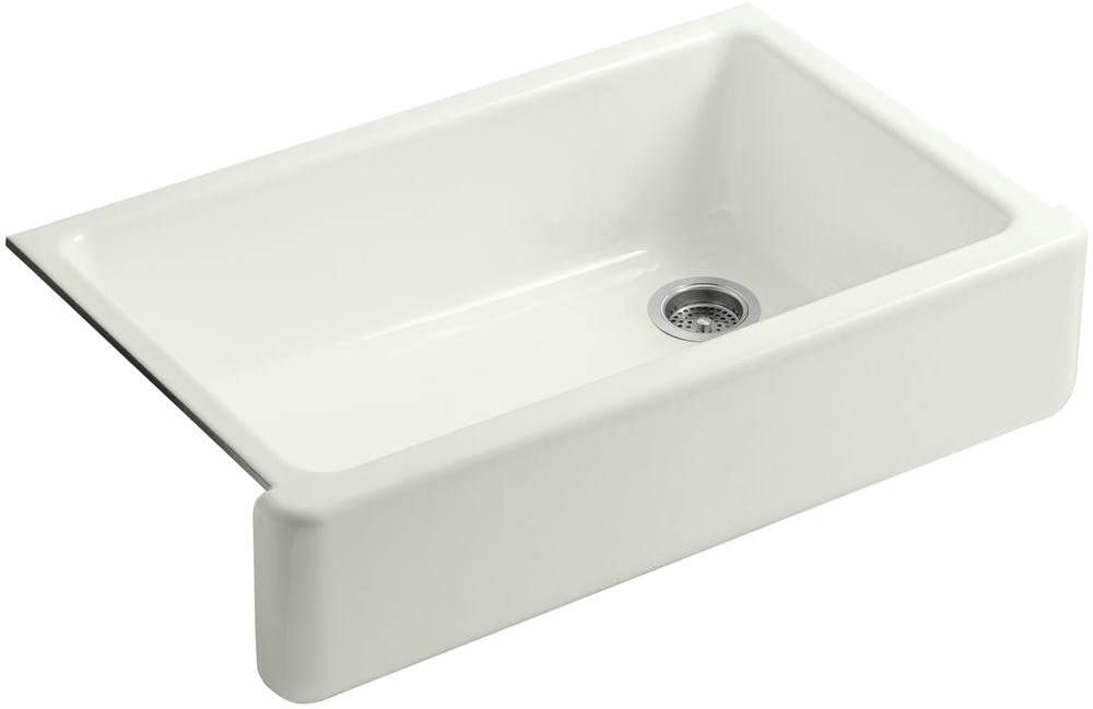KOHLER K-6489-NY Whitehaven Self-Trimming Apron Front Single Basin Sink