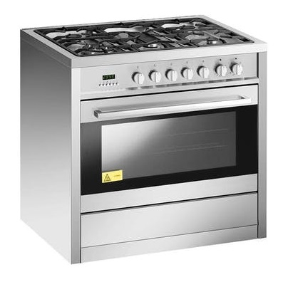 EF GCAE9650-A 90cm Standing Cooker - Stainless Steel Gas Stove