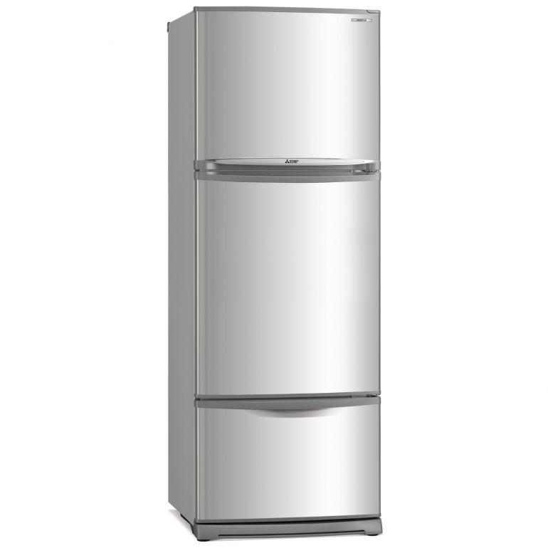Mitsubishi MR-V45EG 3-Door  fridge in singapore 430L Silver color
