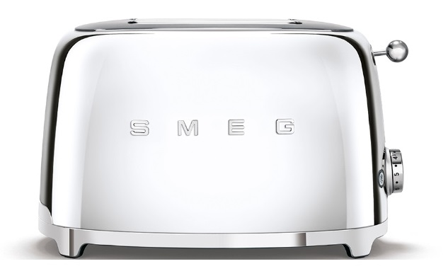 Smeg Toaster 50th Retro Style Aesthetic TSF01SSUS in Chrome color