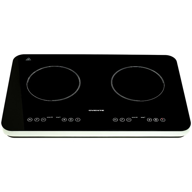 Double Induction Countertop Burner Ceramic Glass Cooktop with Temperature Control