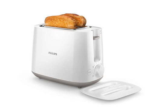 PHILIPS HD2582/01 Daily Collection  with 8 settings and Integrated bun warming rack ad 2 slices of bread